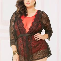 Enchanting Sheer Lace Robe 10894