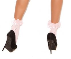 Nylon Anklet with Ruffle