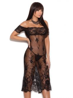 Off the Shoulder Lace Gown